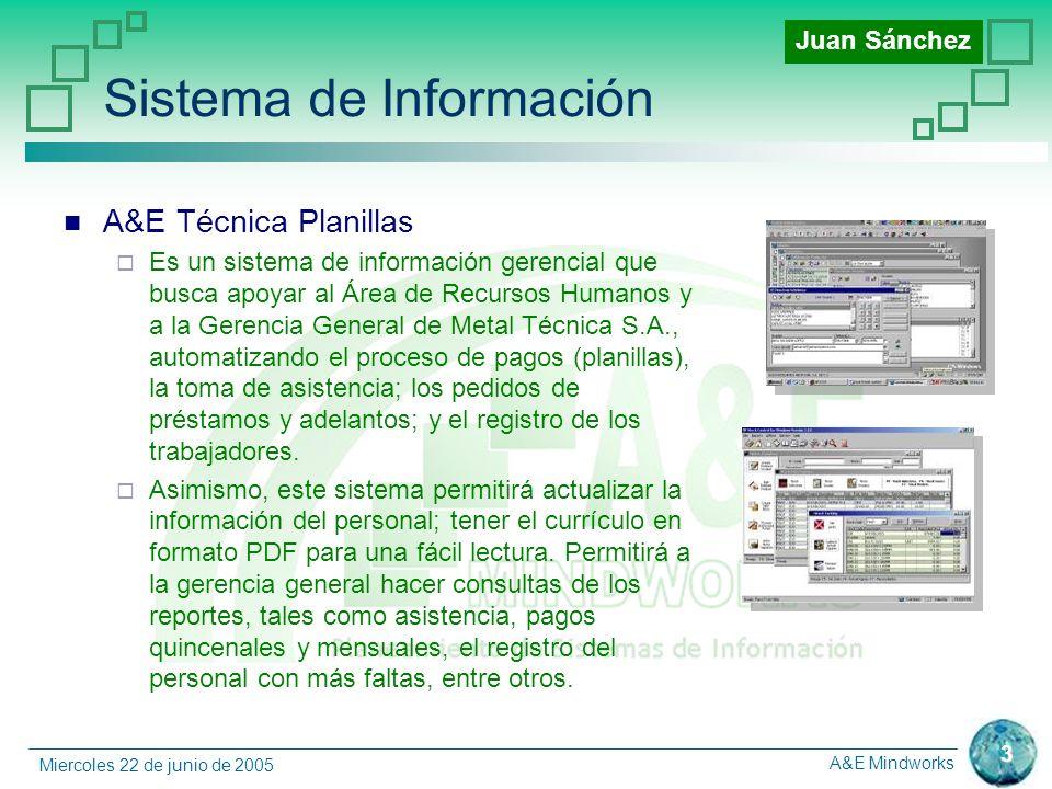 A&E Mindworks 4 Miercoles 22 de junio de 2005 Nuevo Diagrama de Contexto Andrea Villanes