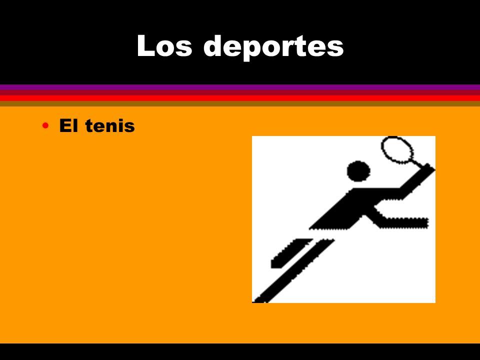 Los deportes El tenis