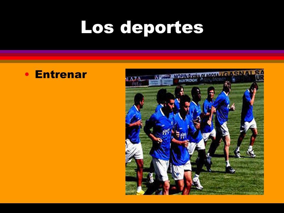 Los deportes Entrenar
