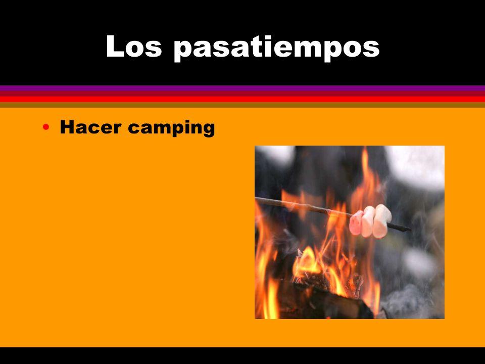 Los pasatiempos Hacer camping