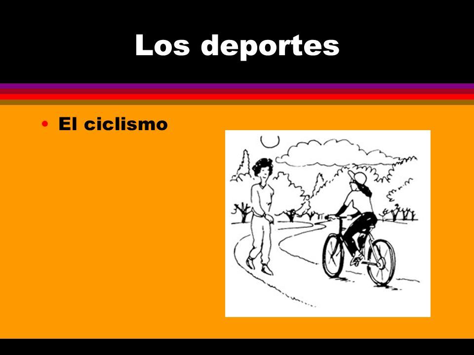 Los deportes El ciclismo
