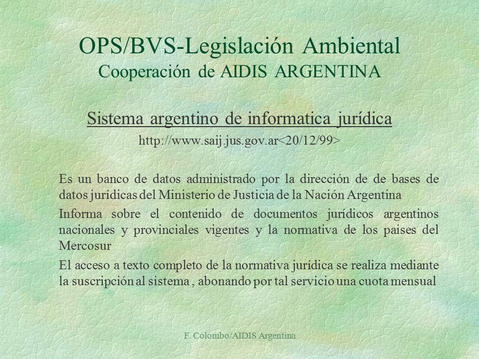 legislacion informatica argentina: