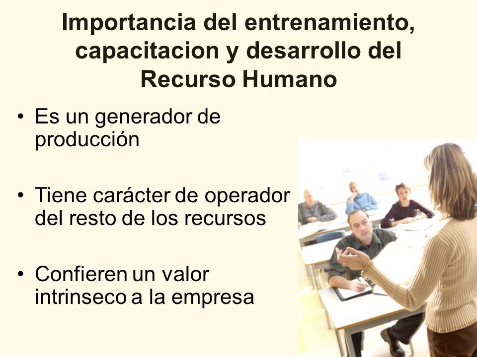 Entrenamiento de Personal Esta es entendida como una actividad educacional planeada y basada en necesidades reales de una empresa, que se orienta hacia un cambio evolutivo en los conocimientos, habilidades y actitudes del personal.