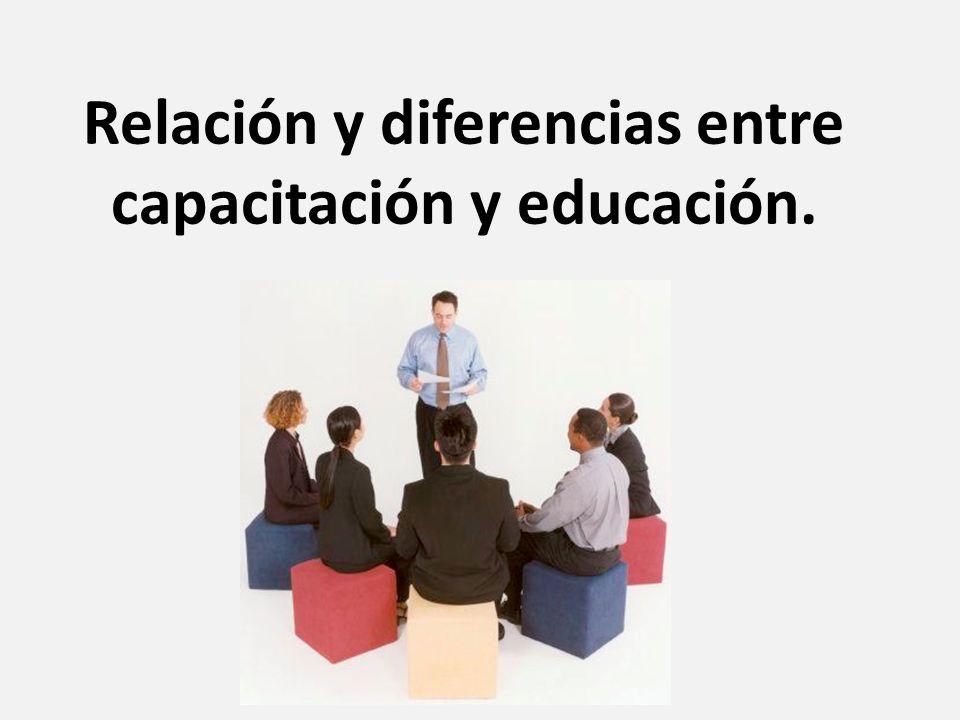 Diferencia entre Capacitación y Educación Educación: Proceso de socialización y aprendizaje encaminado al desarrollo intelectual y ético de una persona.