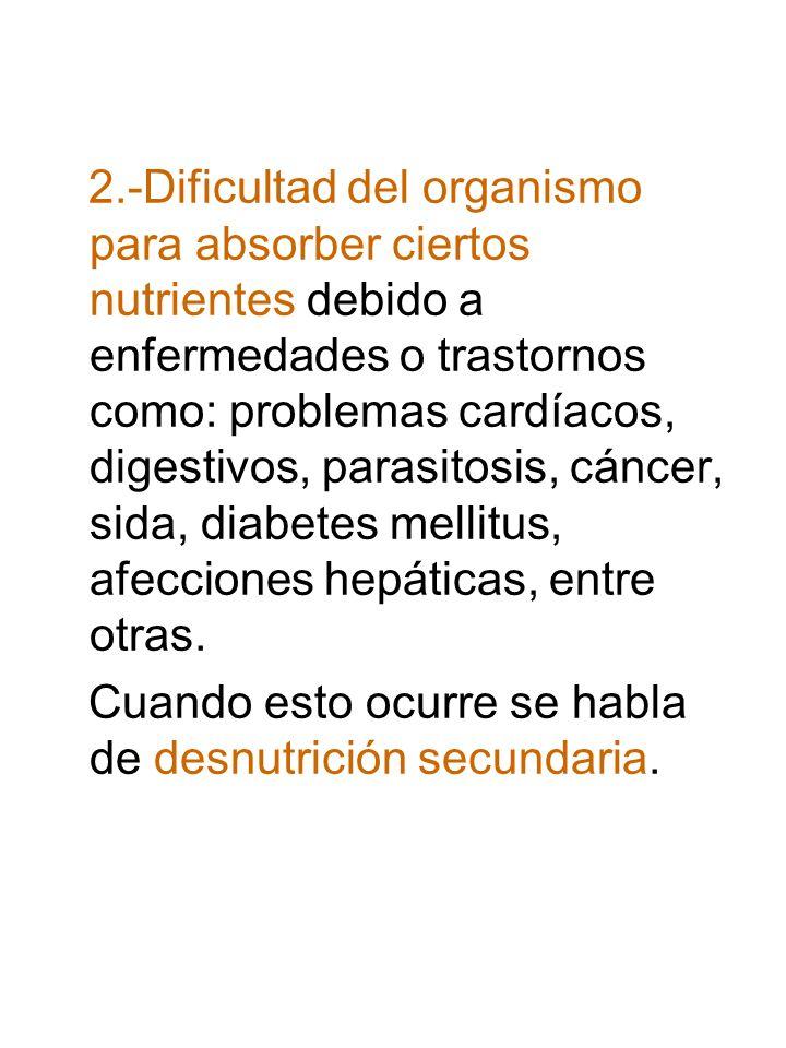 ¿Cuáles son los síntomas de la desnutrición.