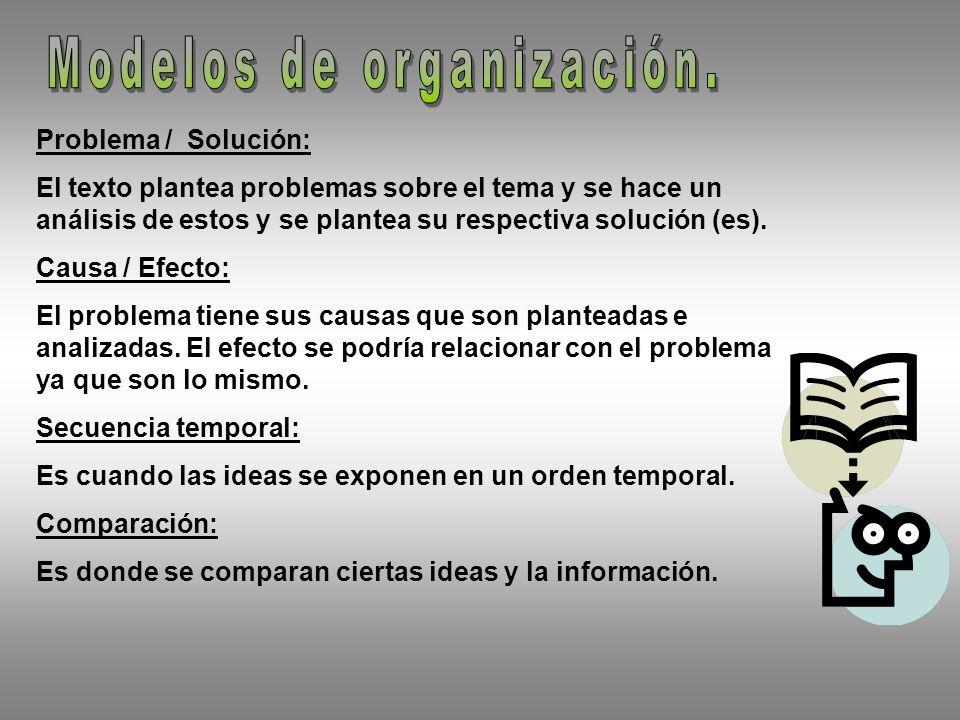 Problema / Solución: El texto plantea problemas sobre el tema y se hace un análisis de estos y se plantea su respectiva solución (es).