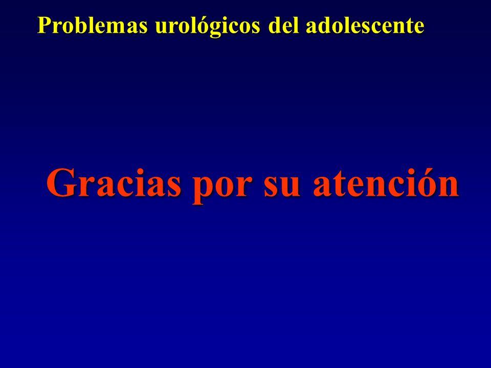 Problemas urológicos del adolescente Gracias por su atención Problemas urológicos del adolescente Gracias por su atención
