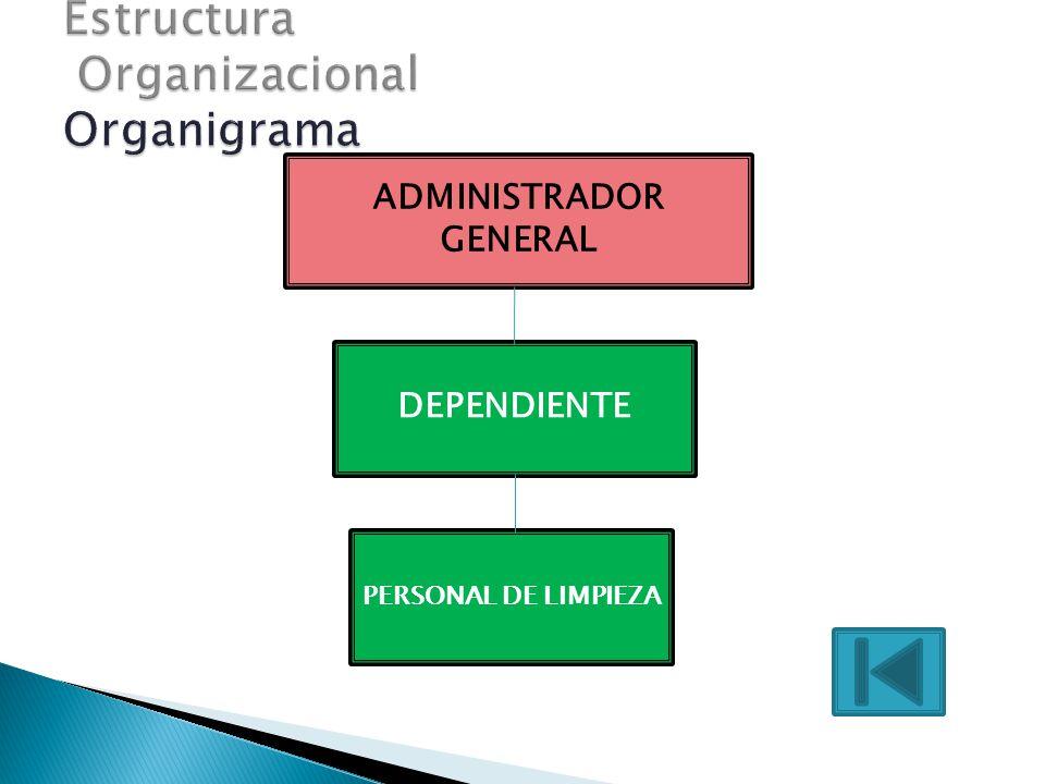 ADMINISTRADOR GENERAL PERSONAL DE LIMPIEZA DEPENDIENTE