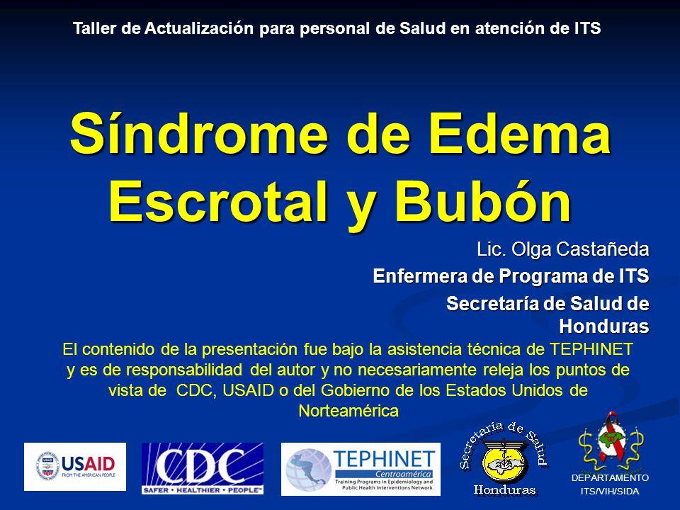 Síndrome de Edema Escrotal y Bubón Lic.