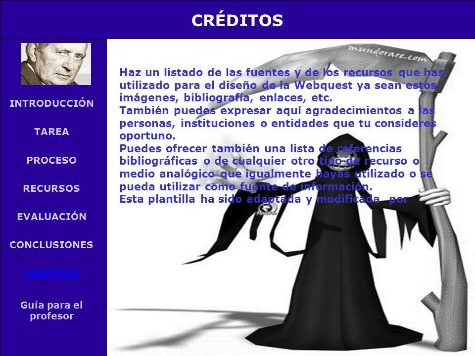 INTRODUCCIÓN TAREA PROCESO RECURSOS EVALUACIÓN CONCLUSIONES ...
