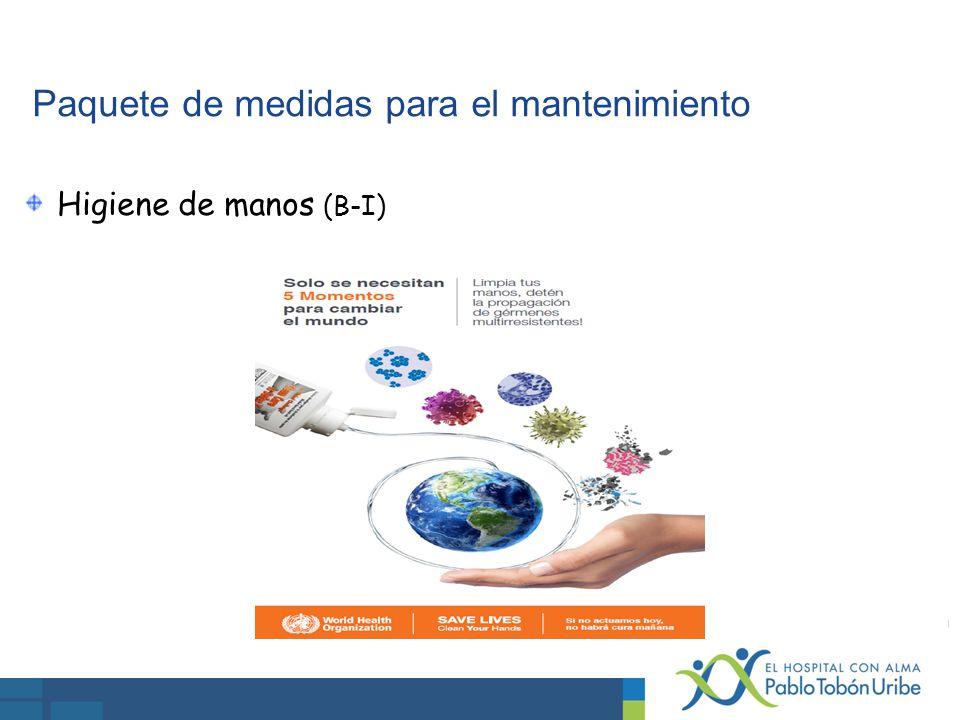 Paquete de medidas para el mantenimiento Higiene de manos (B-I)
