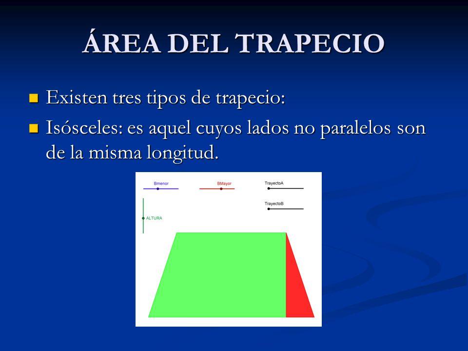 ÁREA DEL ROMBOIDE El área del romboide equivale a la superficie de un rectángulo de la misma base y altura. El área del romboide equivale a la superfi