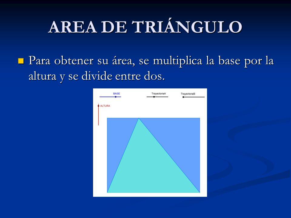 ÁREA DEL TRIÁNGULO El triángulo es el primer polígono. Está formado por tres lados. Según sus lados, el triángulo se clasifica como: equilátero, isósc