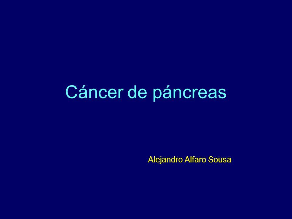 Cáncer de páncreas Cirugía Potencialmente curativa Paliativa