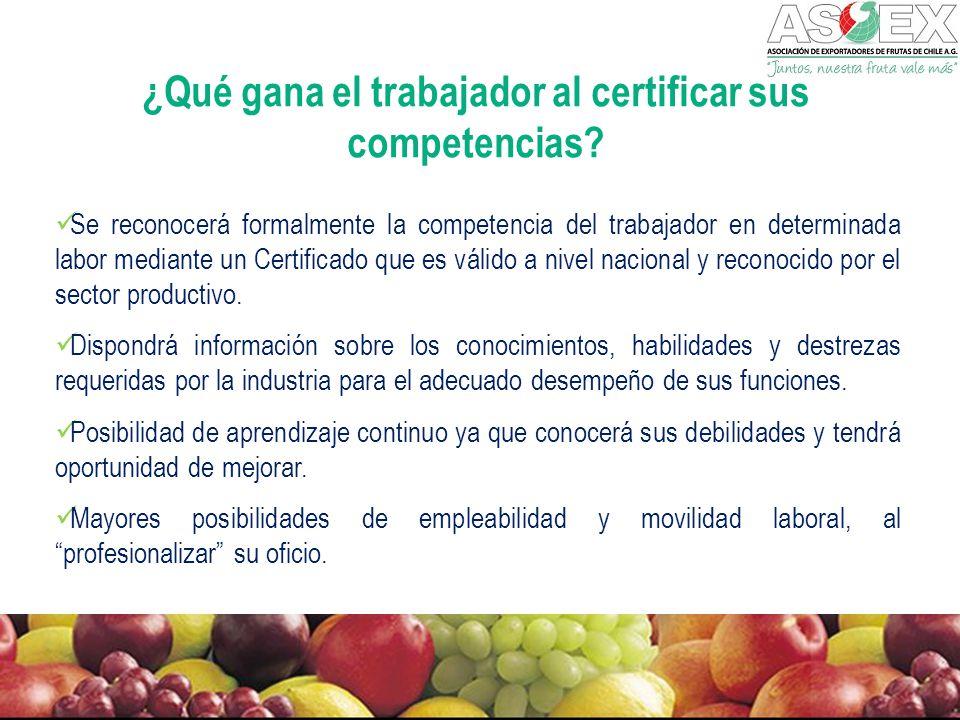¿Qué gana el trabajador al certificar sus competencias.