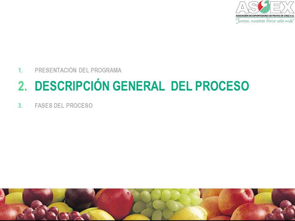 1.PRESENTACIÓN DEL PROGRAMA 2.DESCRIPCIÓN GENERAL DEL PROCESO 3.FASES DEL PROCESO