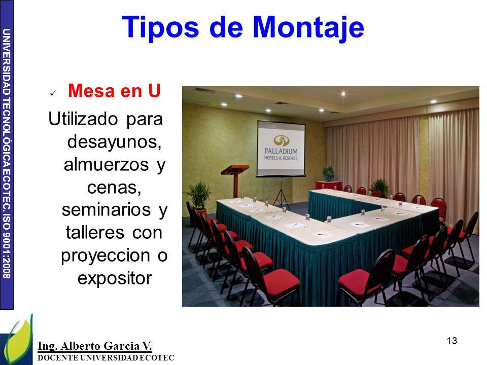 UNIVERSIDAD TECNOLÓGICA ECOTEC.ISO 9001:2008 13 Ing.