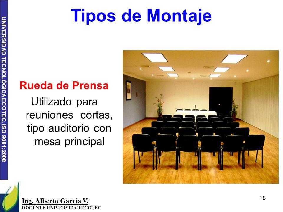 UNIVERSIDAD TECNOLÓGICA ECOTEC.ISO 9001:2008 18 Ing.