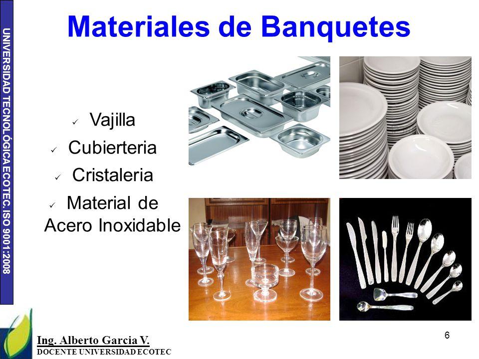 UNIVERSIDAD TECNOLÓGICA ECOTEC.ISO 9001:2008 17 Ing.