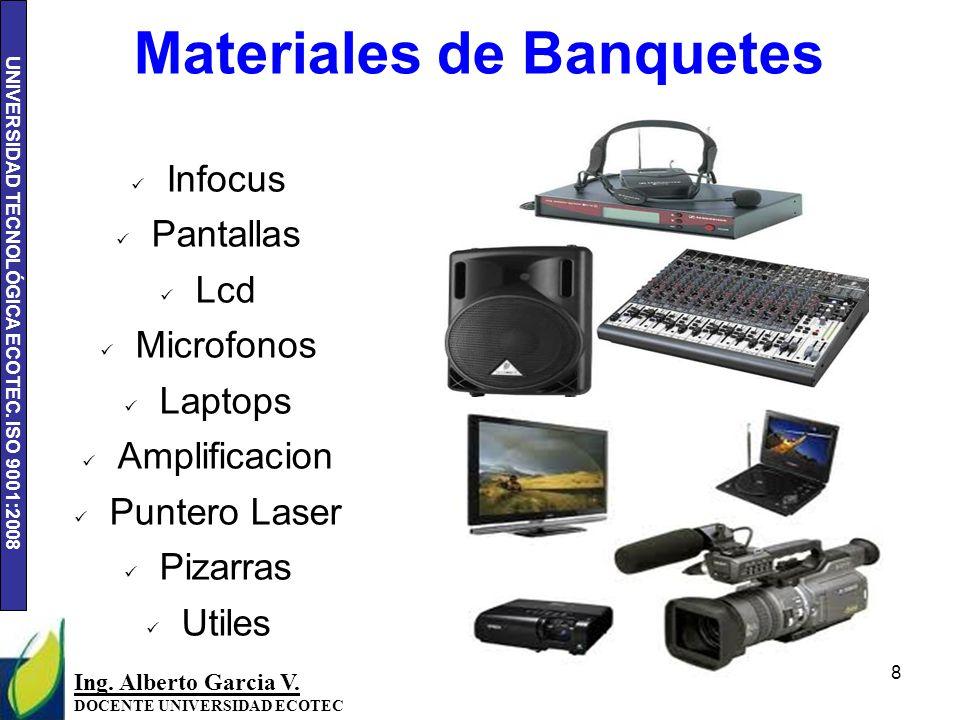 UNIVERSIDAD TECNOLÓGICA ECOTEC.ISO 9001:2008 8 Ing.