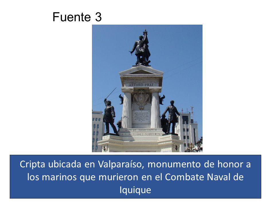 Fuente 3 Cripta ubicada en Valparaíso, monumento de honor a los marinos que murieron en el Combate Naval de Iquique
