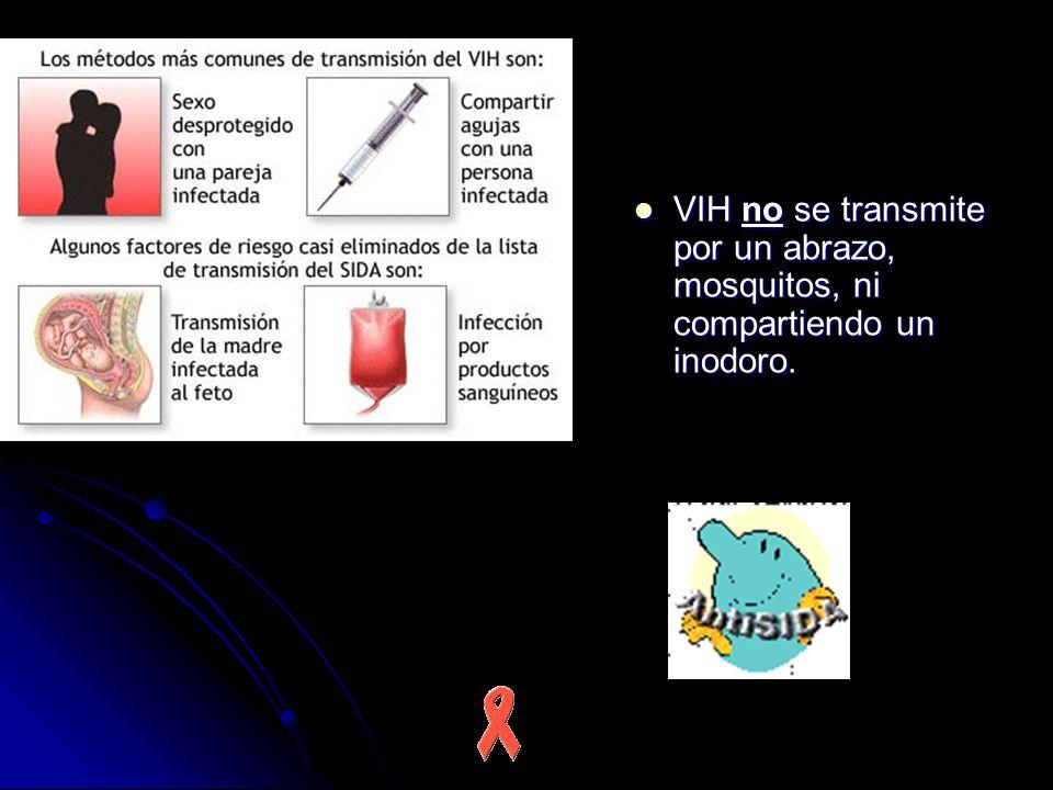 VIH no se transmite por un abrazo, mosquitos, ni compartiendo un inodoro.