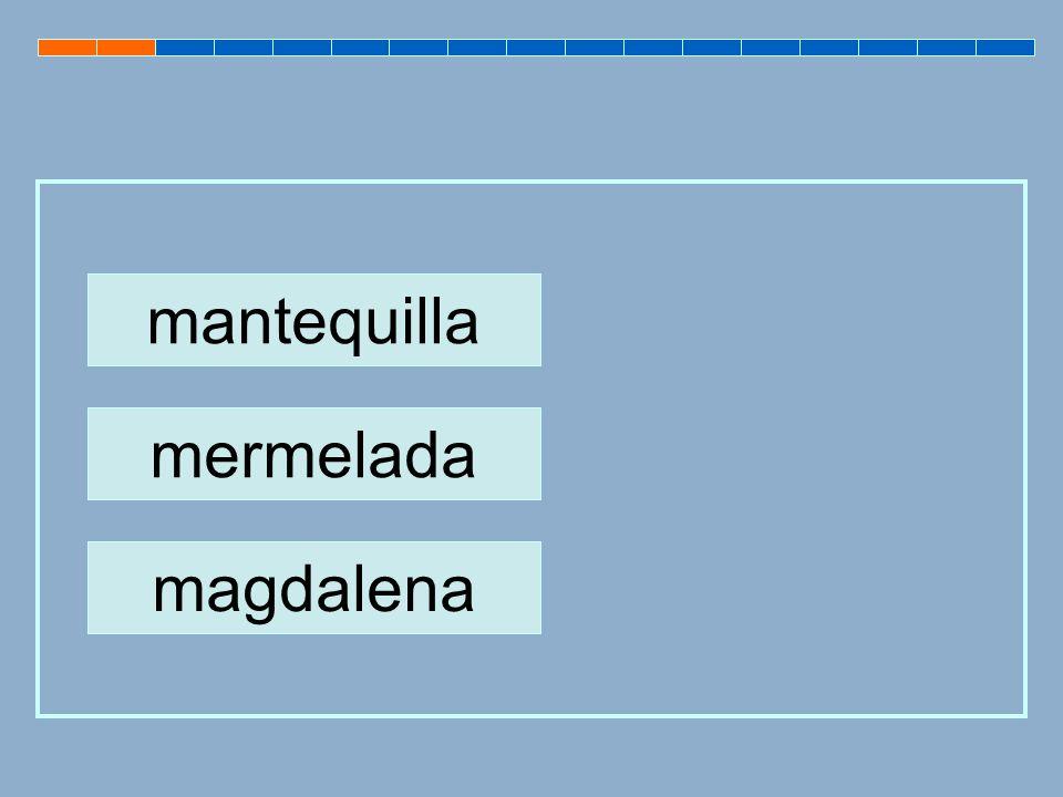 mermelada mantequilla magdalena