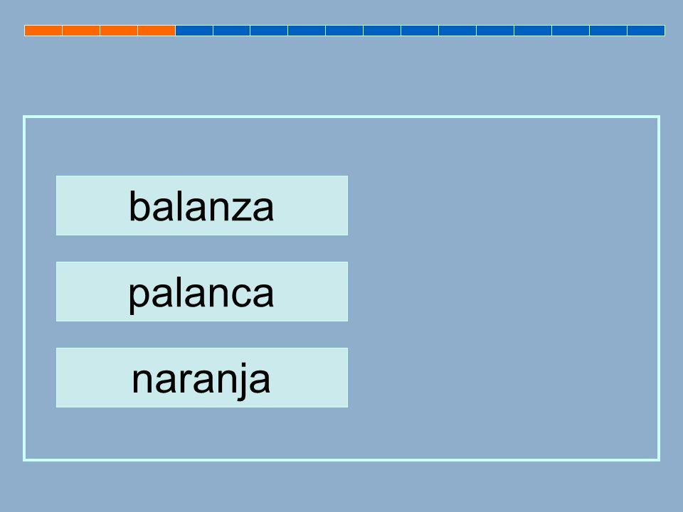 palanca balanza naranja