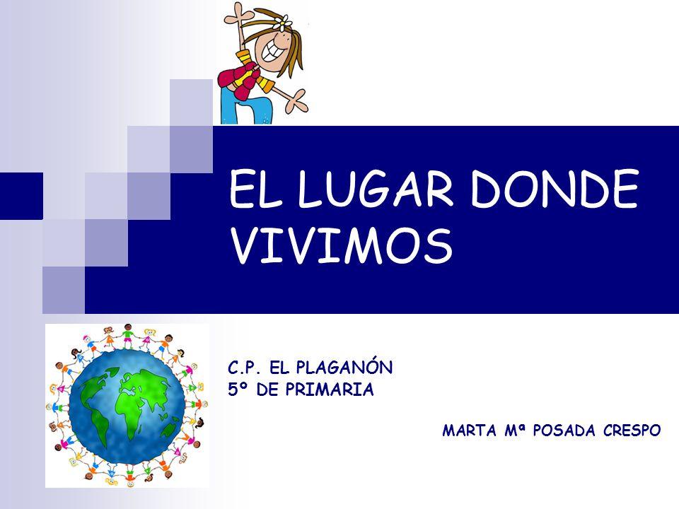 EL LUGAR DONDE VIVIMOS C.P. EL PLAGANÓN 5º DE PRIMARIA MARTA Mª POSADA CRESPO
