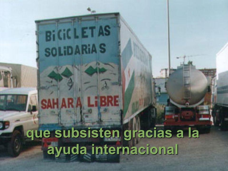 que subsisten gracias a la ayuda internacional