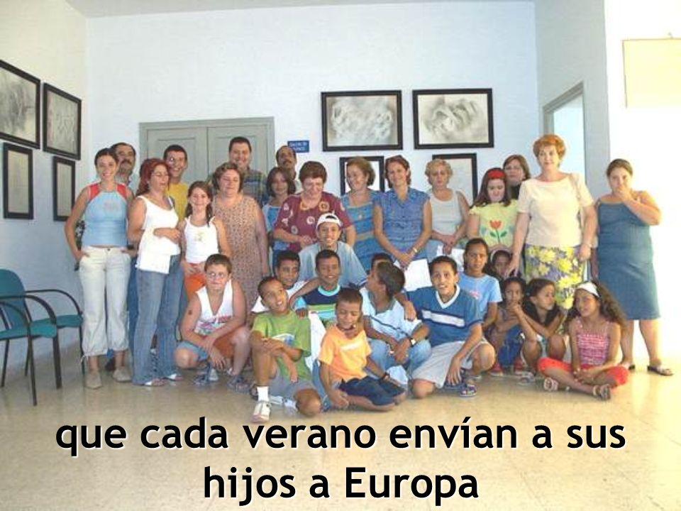 que cada verano envían a sus hijos a Europa