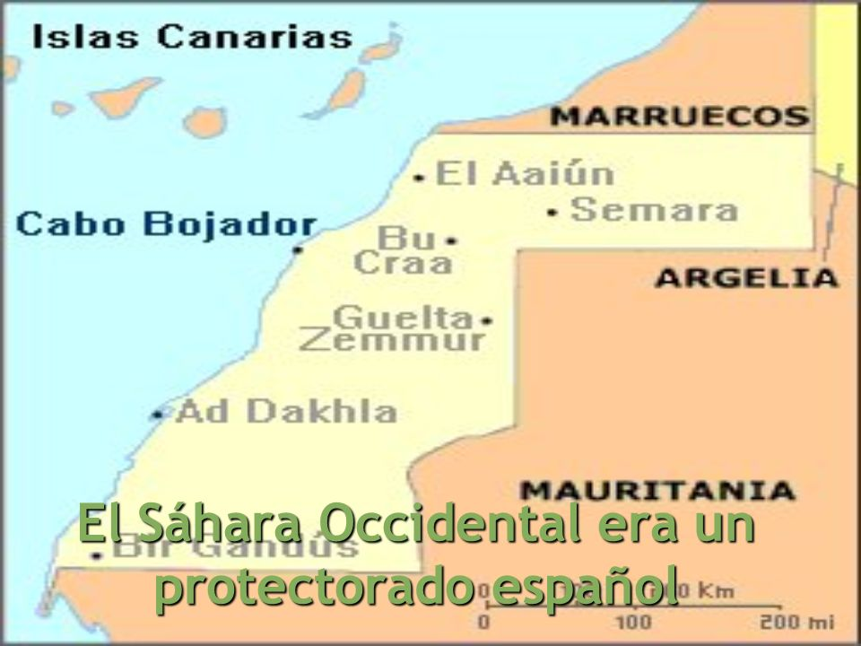 El Sáhara Occidental era un protectorado español
