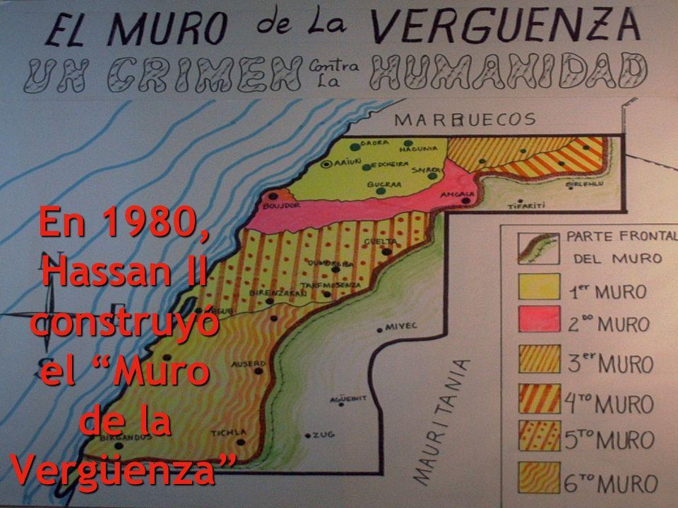 sembrándolo de minas para impedir el retorno de los saharauis.