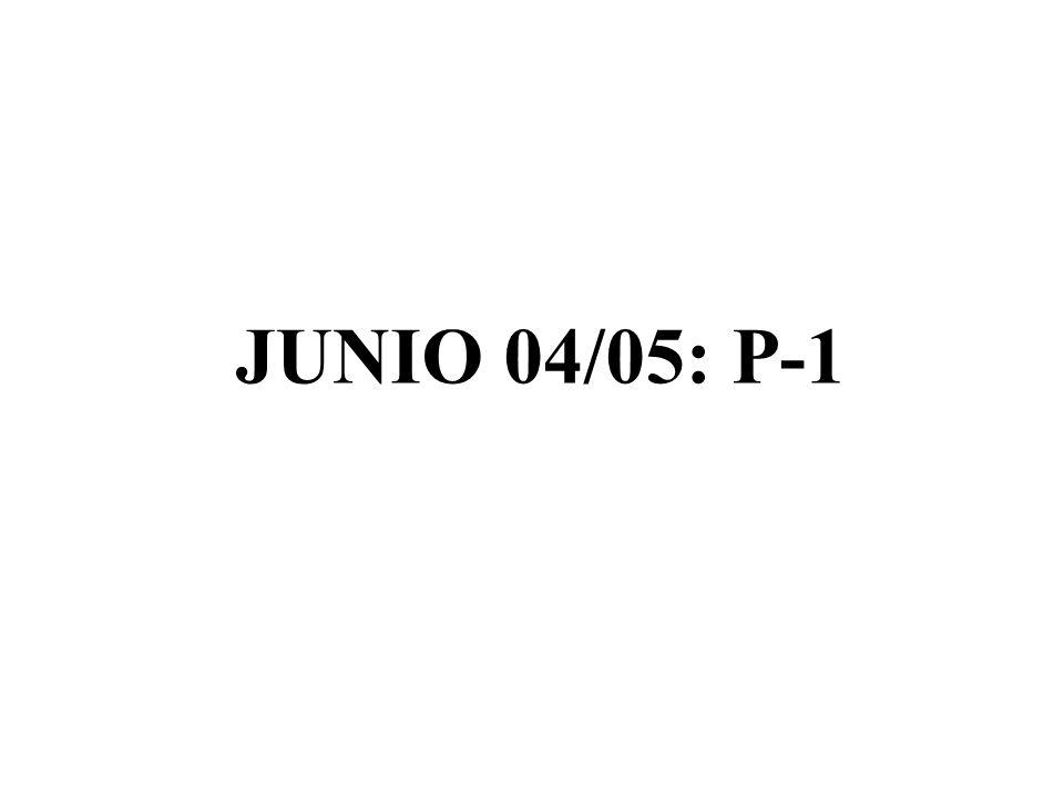 JUNIO 04/05: P-1