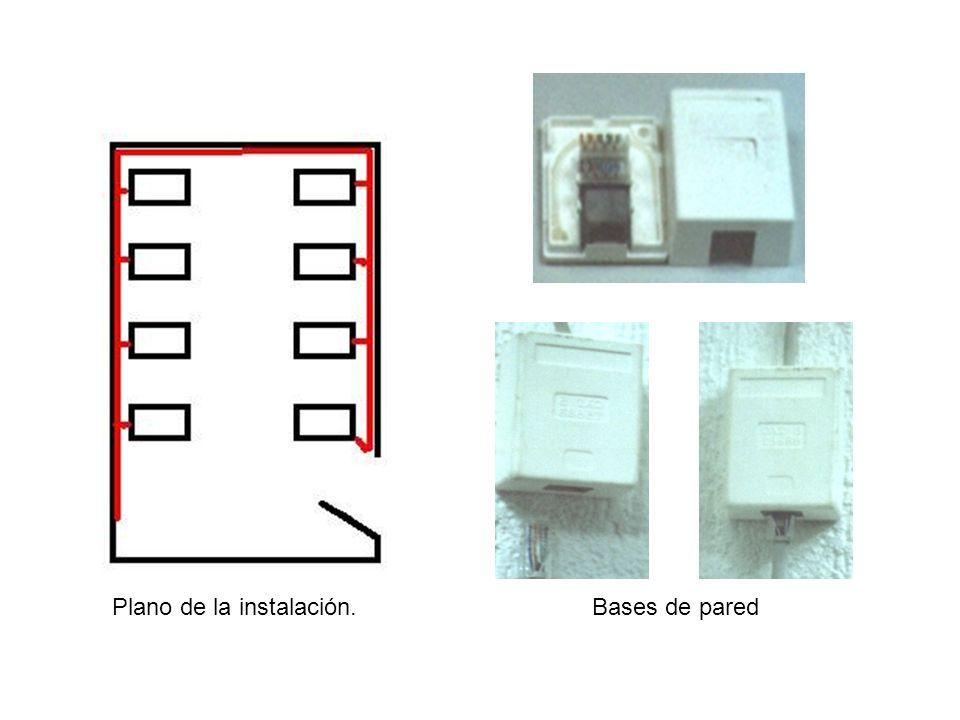 MONTAJE BASES DE PARED En la foto que aparece ahora, puede comprobar la forma de una caja de superficie de base RJ45, la de la izquierda ésta cerrada y la de la derecha ésta desmontada para su conexionado.