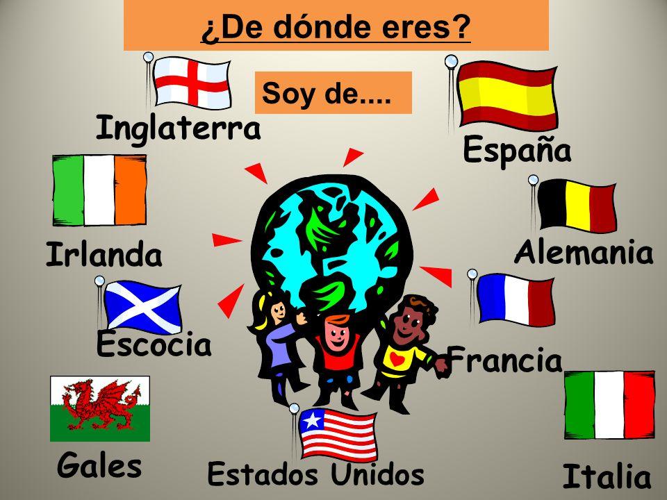 ¿cuál es tu nacionalidad? Soy irlandés Soy irlandesa