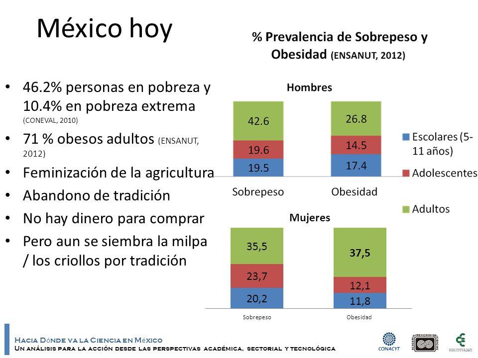 Hacia D ó nde va la Ciencia en M é xico Un análisis para la acción desde las perspectivas académica, sectorial y tecnológica México hoy 46.2% personas