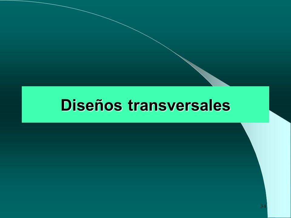 34 Diseños transversales