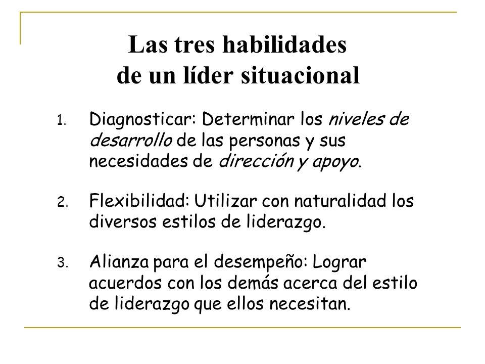 Las tres habilidades de un líder situacional 1.