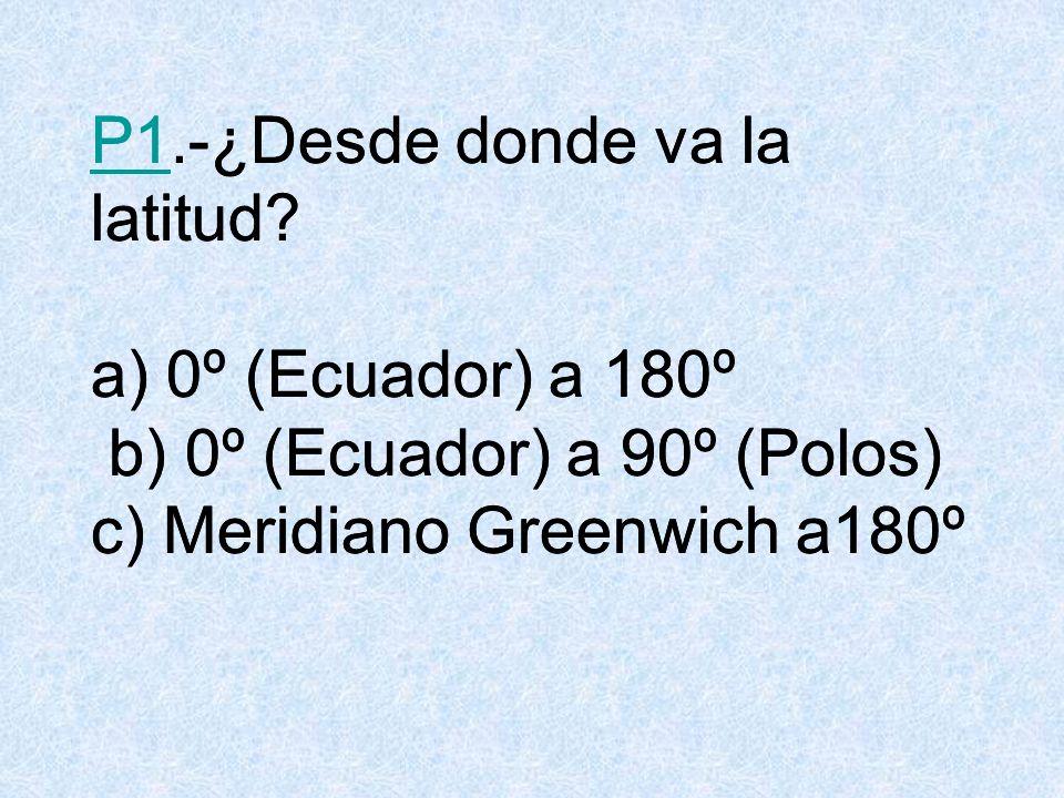 P2P2.-Cuántos puntos cardinales hay? a) 8 b) 4 c) 2