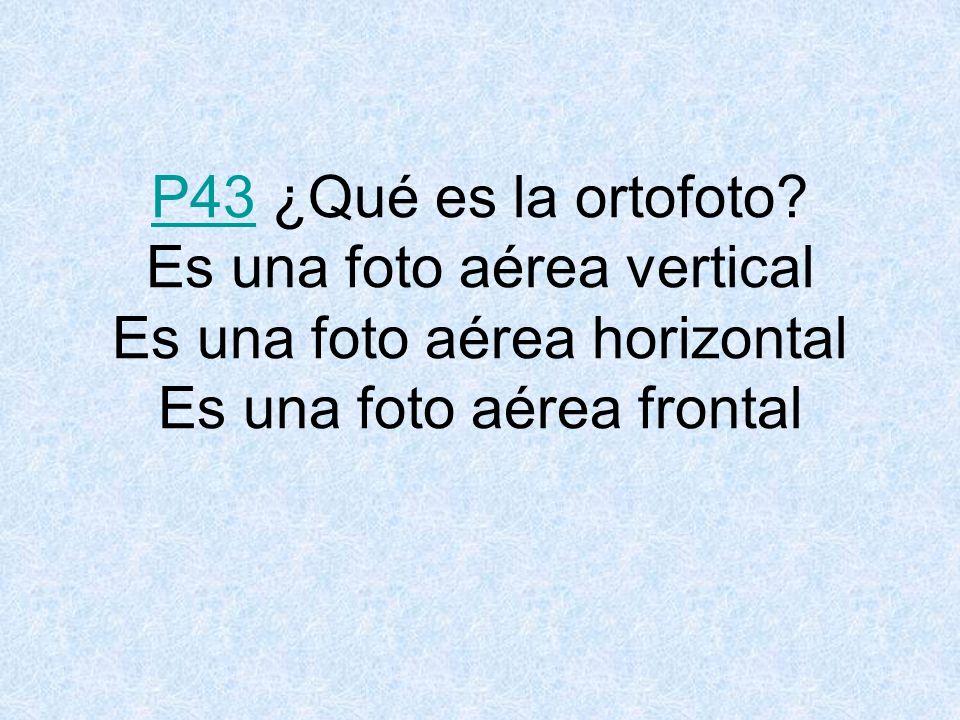 P43P43 ¿Qué es la ortofoto.