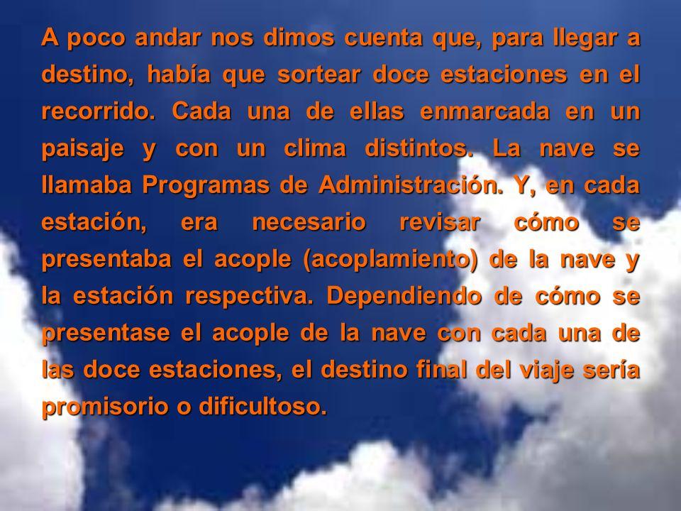 La primera estación tenía el nombre de FORMACIÓN EN EL NIVEL ESTRATÉGICO.