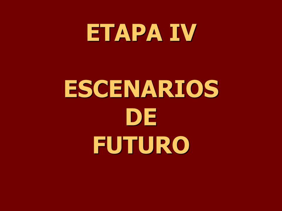 ETAPA IV ESCENARIOS DE FUTURO