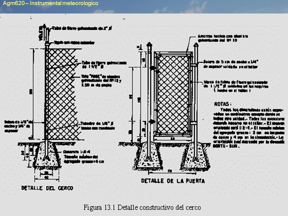 Requisitos y normas sobre instalación del instrumental meteorológico Como todo instrumental científico, un instrumento de uso meteorológico está destinado a evaluar los aspectos cuantitativos de un fenómeno natural.