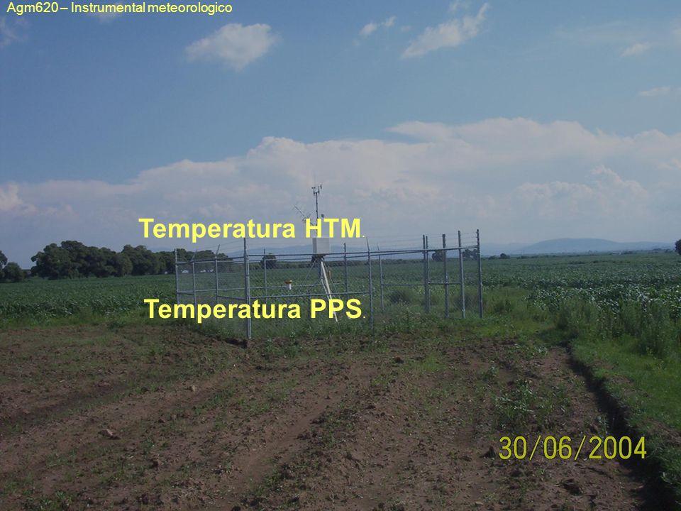 Agm620 – Instrumental meteorologico Temperatura HTM. Temperatura PPS.