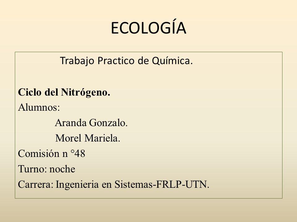 Ciclo del nitrógeno.