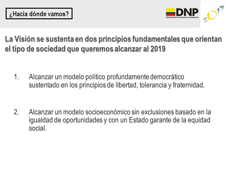 1.Alcanzar un modelo político profundamente democrático sustentado en los principios de libertad, tolerancia y fraternidad. 2.Alcanzar un modelo socio