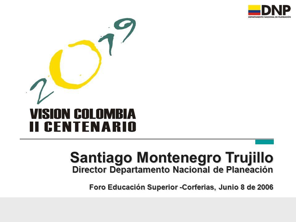 Santiago Montenegro Trujillo Director Departamento Nacional de Planeación Foro Educación Superior -Corferias, Junio 8 de 2006