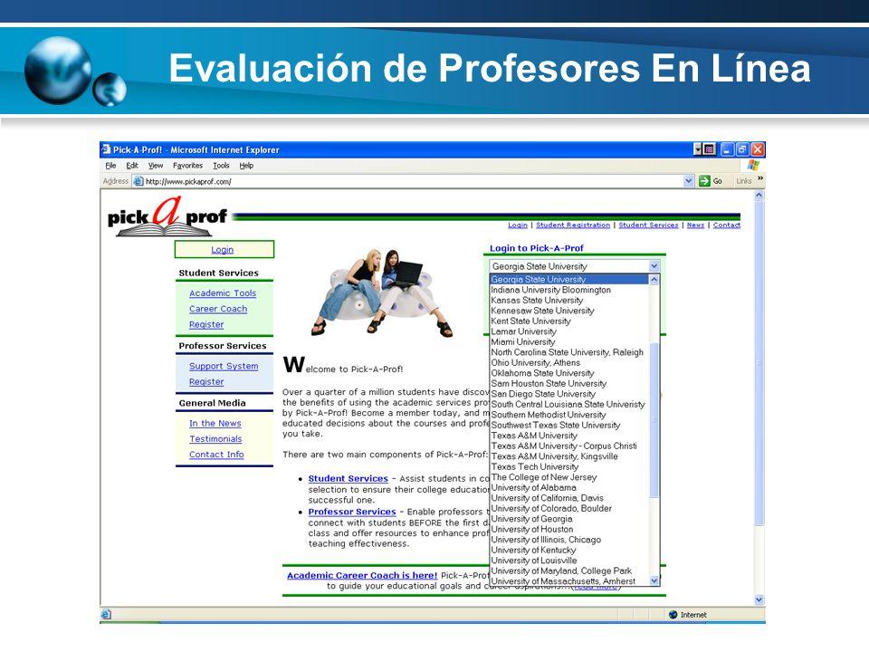 Evaluación de Profesores En Línea