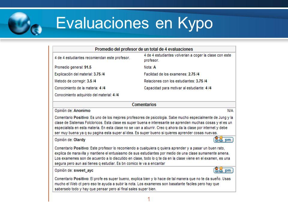 Evaluaciones en Kypo